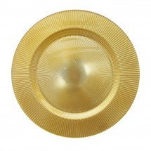 """The Jay Companies 1470349 Round Sunray Gold Glass Charger Plate 13"""""""