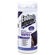 Endust Tablet and Laptop Cleaning Wipes, Unscented, 70 Wipes
