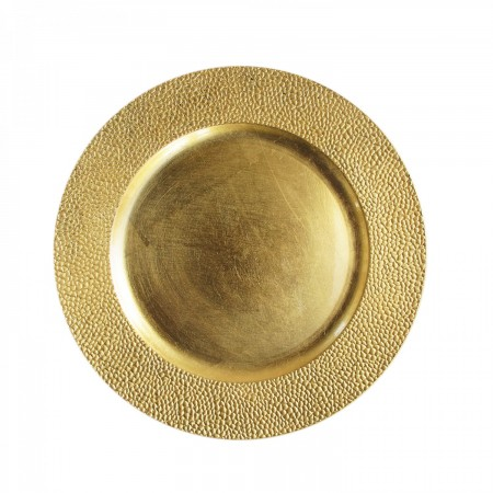 """The Jay Companies 13"""" Round Gold Pebbled Charger Plate"""