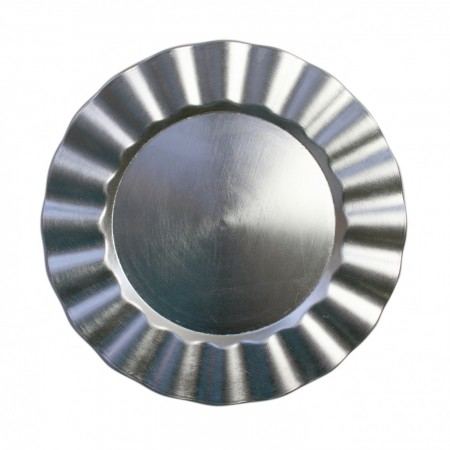 """The Jay Companies 1183058 Round Silver Ruffled Rim Charger Plate 13"""""""