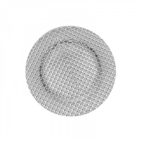 """The Jay Companies 1270277-4 Round Silver Links Charger Plate 13"""""""