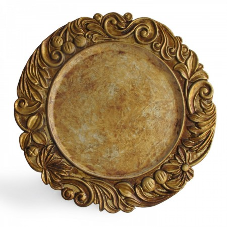 """The Jay Companies 1320377 Round Gold Aristocrat Charger Plate 14"""""""