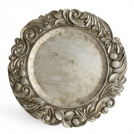 """The Jay Companies 1320378 Round Silver Aristocrat Charger Plate 14"""""""