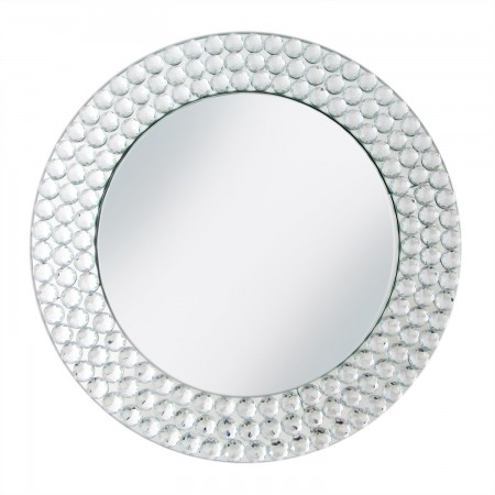 The Jay Companies 1330039 Round Mirror Beaded Charger Plate 13""