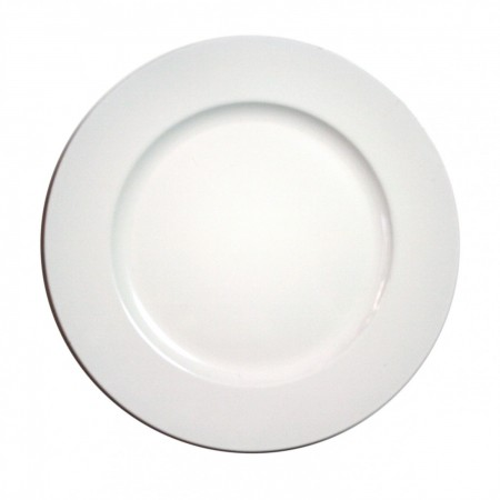 """The Jay Companies 1428008BK Round White Melamine Charger Plate 13"""""""