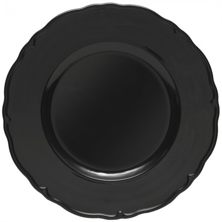 """The Jay Companies A215BK Round Black Regency Charger Plate 13"""""""