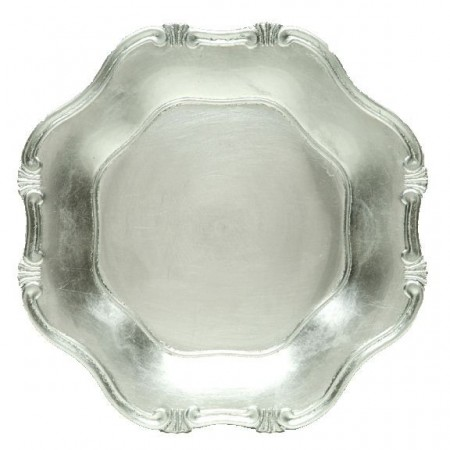 """The Jay Companies A275HR Silver Baroque Polypropylene Charger Plate 13"""""""