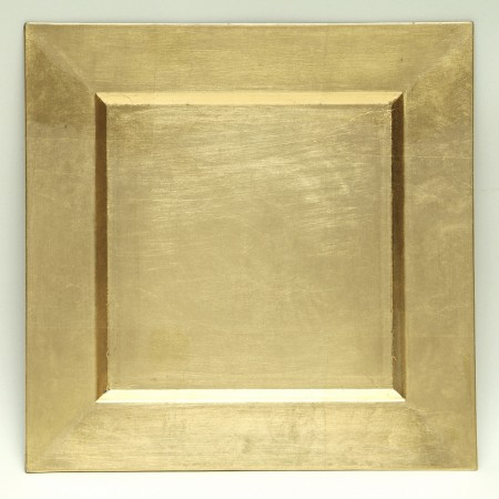 """The Jay Companies A81GR-13 Square Gold Charger Plate 13"""" x 13"""""""