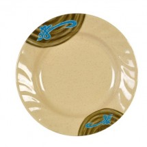 """Thunder Group 1210J Wei Asian Curved Rim Plate 10-1/2"""""""