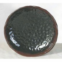 Thunder Group 1809TM Tenmoku Lotus Shaped Melamine Plate 9-3/8""