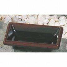 "Thunder Group 1901TM Tenmoku Rectangular Sauce Dish 3-3/4"" x 2-1/2"""