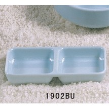 Thunder Group 1902 Blue Jade Melamine Twin Sauce Dish 4 oz.