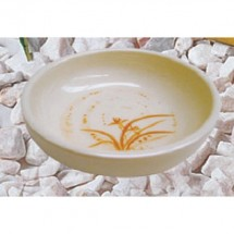 Thunder Group 1904GD Gold Orchid Flat Bowl 4 1/2""