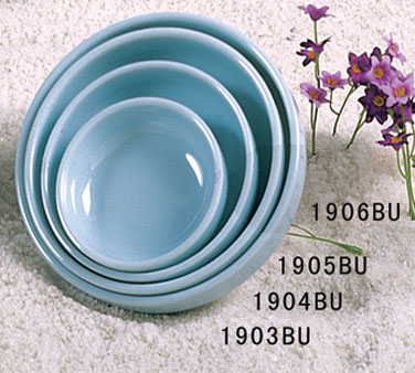 Thunder Group 1905 Blue Jade Melamine Flat Bowl 8 oz.