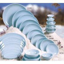 Thunder Group 1916 Blue Jade Melamine Plate 15-3/4""