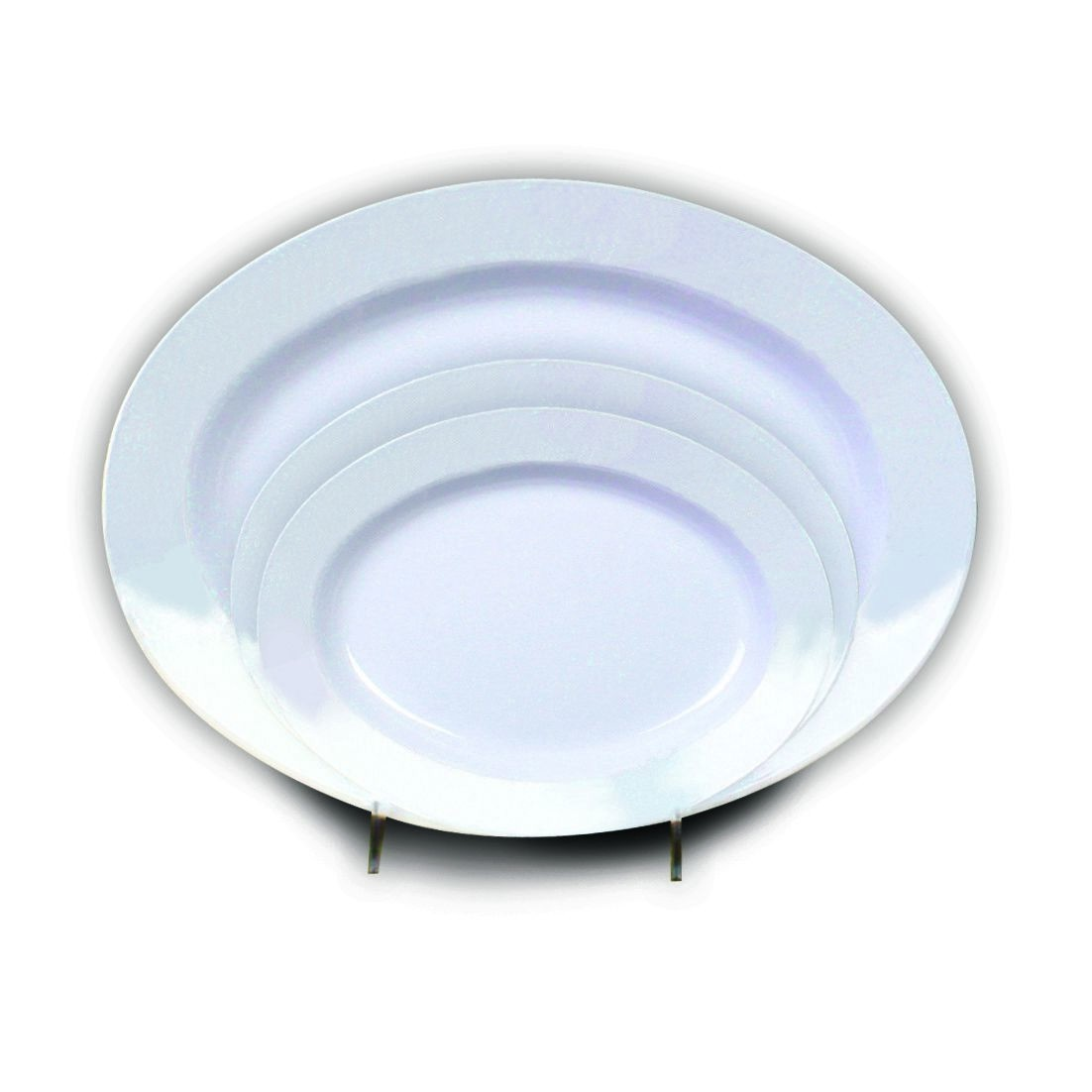 "Thunder Group 2110TW Imperial Oval Shaped Deep Platter 10"" x 7-1/2"""
