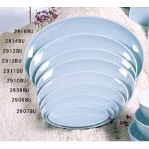 Thunder Group 2912 Blue Jade Melamine Platter 12-1/2""