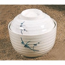 Thunder Group 3502BB Blue Bamboo Melamine Miso Bowl with Lid 9 oz.
