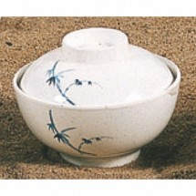 Thunder Group 3506BB Blue Bamboo Melamine Special Bowl with Lid 10 oz.