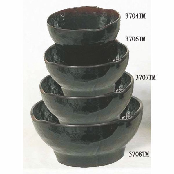 Thunder Group 3704TM Tenmoku Zensai Rice Bowl 10 oz.
