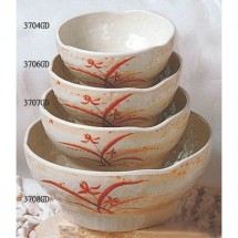 Thunder Group 3708GD Gold Orchid Melamine Wave Soup Bowl 40 oz.