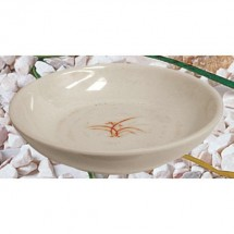Thunder Group 3955GD Gold Orchid Melamine Flat Bowl 9 oz.