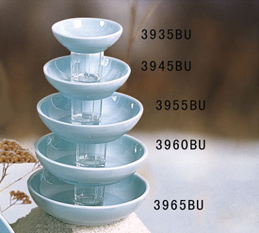 Thunder Group 3965 Blue Jade Melamine Bowl 15 oz.