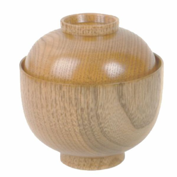 Thunder Group 45-35 Wood Miso & Rice Bowl 3-3/4""