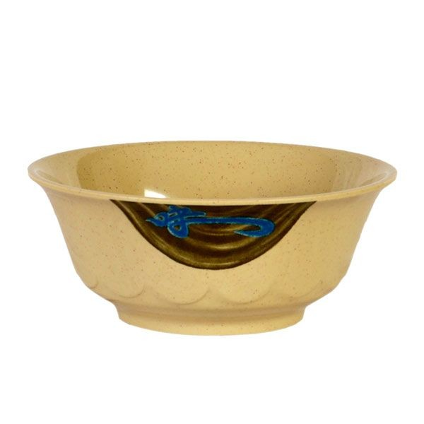 Thunder Group 5285J Wei Asian Curved Noodle Bowl 53 oz.