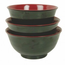 Thunder Group 5560JBR Two Tone Asian Soup Bowl 24 oz. - 1 doz