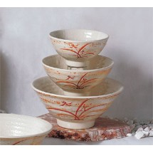 Thunder Group 5706 Gold Orchid Melamine Soup Bowl 16 oz.