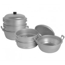 Thunder Group ALST001 Aluminum Steamer Set 11 3/8
