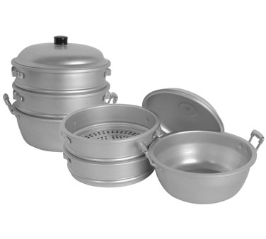 "Thunder Group ALST008 Aluminum Steamer 15"" x 20-1/4"""