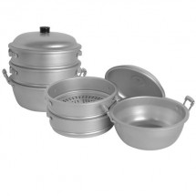 "Thunder Group ALST016 Aluminum Steamer 26"" x 22"""