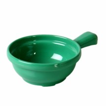 Thunder Group CR305GR Green Melamine Soup Bowl with Handle 10 oz. - 1 doz.