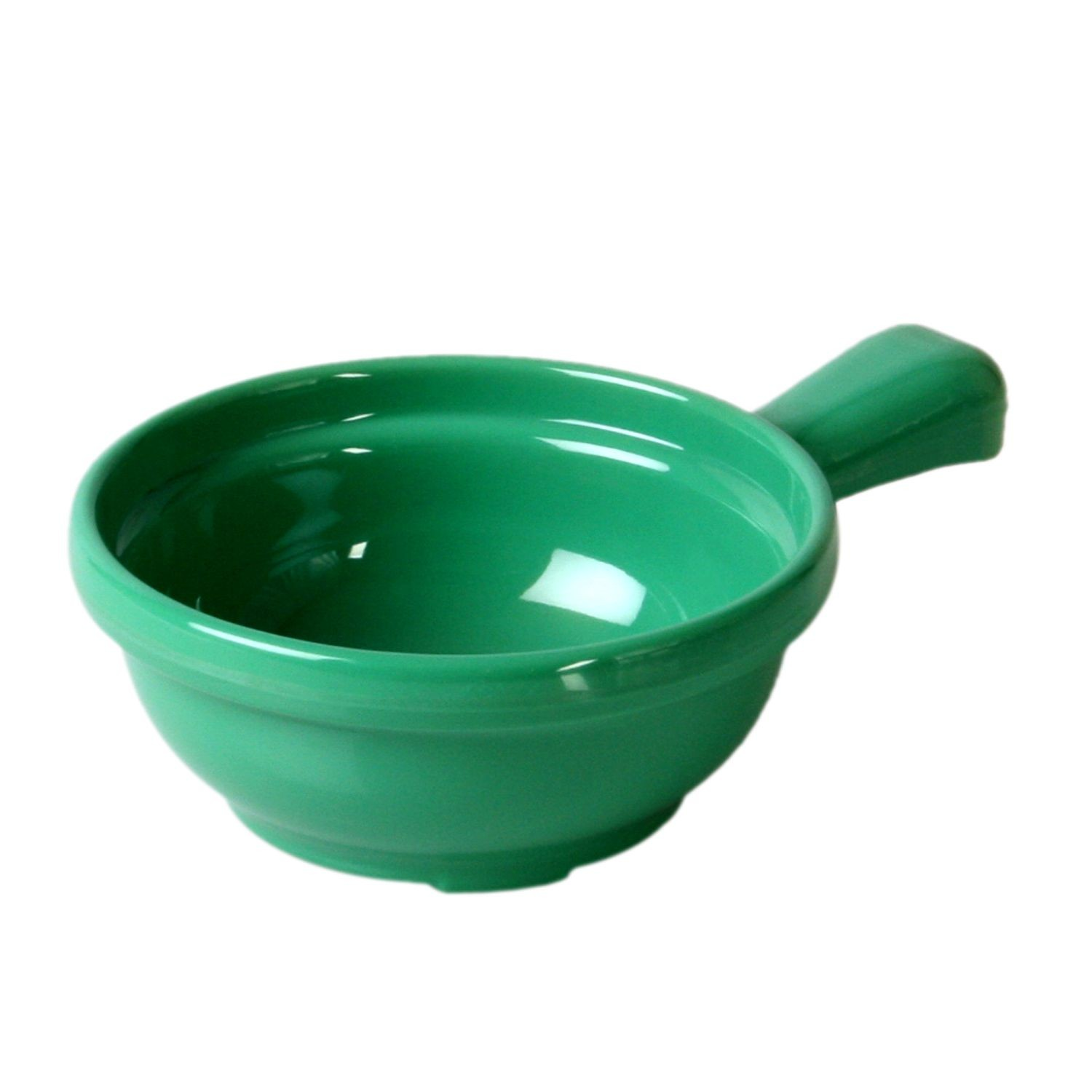 Thunder Group CR305GR Green Melamine Soup Bowl with Handle 10 oz. - 1 doz