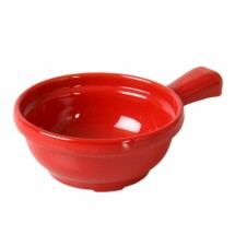 Thunder Group CR305PR Pure Red Soup Bowl with Handle 10 oz  - 1 doz