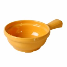 Thunder Group CR305YW Yellow Melamine Soup Bowl with Handle 10 oz. - 1 doz.
