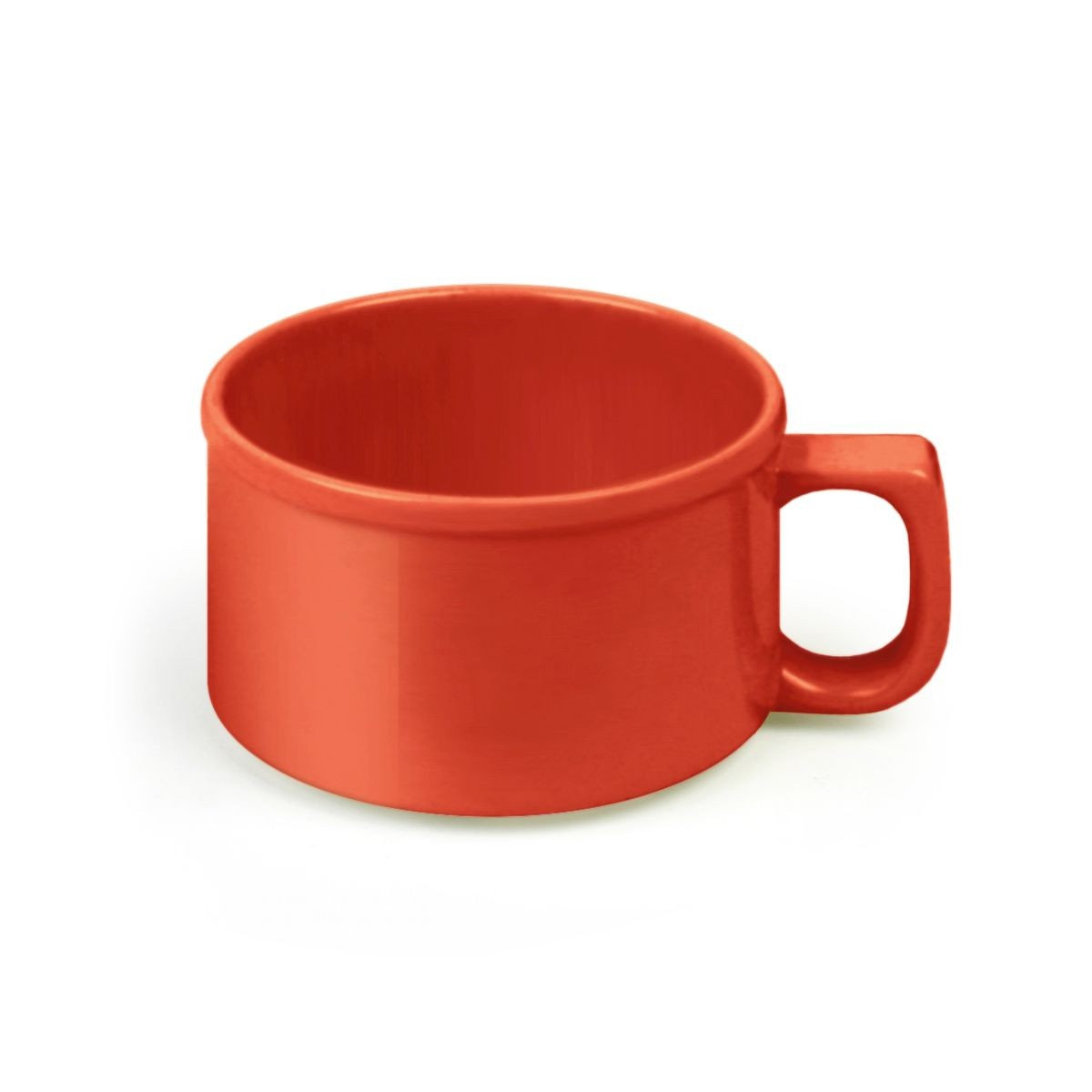 Thunder Group CR9016PR Pure Red Melamine Soup Mug 10 oz. - 1 doz