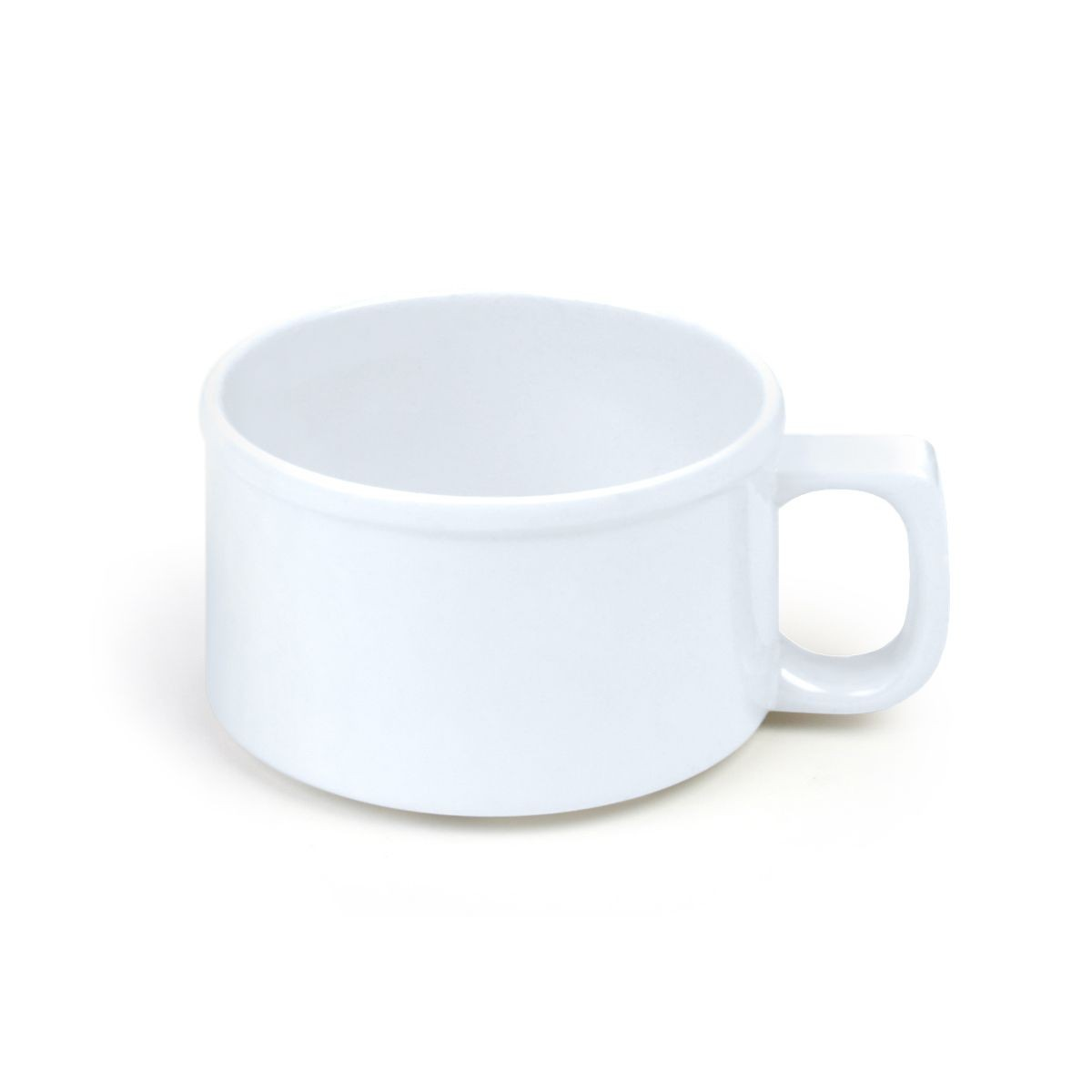 Thunder Group CR9016W White Melamine Soup Mug 10 oz. - 1 doz