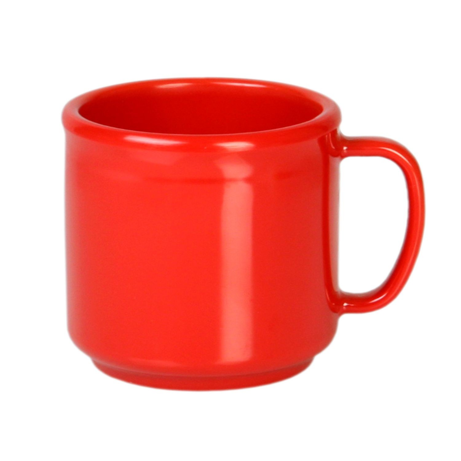 Thunder Group CR9035PR Pure Red Melamine Mug 10 oz. - 1 doz