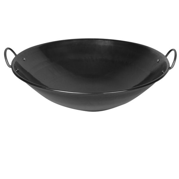 Thunder Group IRWC005 Curved Rim Iron Wok 28""