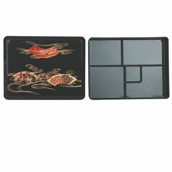 Thunder Group JPRB002 Makunouchi Bento Box Server With Fixed Tray