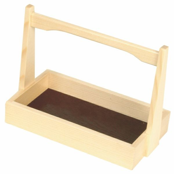 Thunder Group K109 Wood Shoyu Sauce Tray with Handle 6-1/2