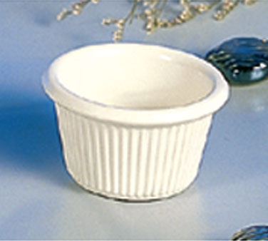 Thunder Group ML507B Bone Fluted Ramekin 1.5 oz. - 4 doz