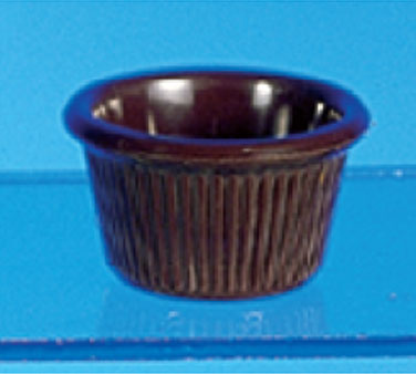 Thunder Group ML507C Chocolate Fluted Ramekin 1.5 oz. - 4 doz