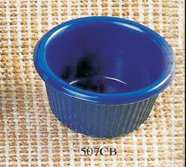 Thunder Group ML507CB Cobalt Blue Fluted Ramekin 1.5 oz. - 4 doz