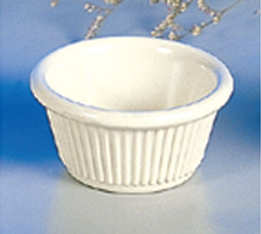 Thunder Group ML509B Bone Fluted Ramekin 2 oz. - 4 doz
