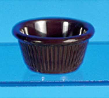 Thunder Group ML509C Chocolate Fluted Ramekin 2 oz. - 4 doz