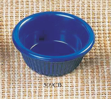 Thunder Group ML509CB Cobalt Blue Fluted Ramekin 2 oz. - 4 doz